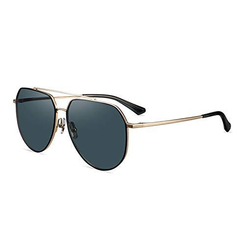 FHW Gafas De Sol Polarizadas para Hombres, Monturas De Aviador, Almohadillas Nasales De Silicona, Gafas De Sol CóModas Y Duraderas, Adecuadas para Conducir, Caminar, Deportes Al Aire Libre,B