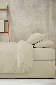 100% Cotton 600 Thread Count | Luxury 4 Piece King Bed Sheet| Ivory |Egyptian Long-Staple|fits Mattress 16   Deep Pocket | Soft & Silky Sateen Weave Finish