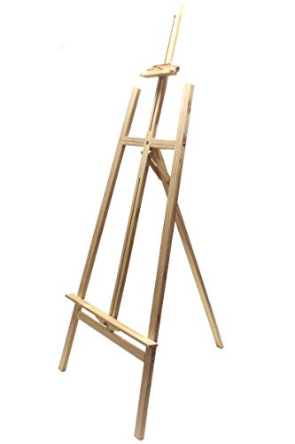 Chely Intermarket, caballete pintura 170cm (121cm) madera de pino con color natural, apto para carteles de eventos y lienzos, ligero para transportar(568-170-2,10)