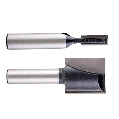 H HILABEE 2pcs 8mm Shank Bottom Cleaning Straight/Dado Router 5mm 18mm Cutting Tool