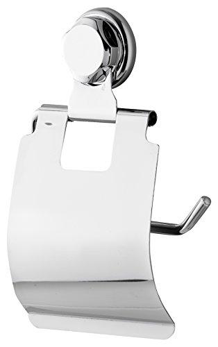 Compactor Bestlock succión Montado en la Pared portarrollos con Tapa, Cromo, Chrome 24H | Suction Cup : TPU and Abs, Cromado, No Applicable