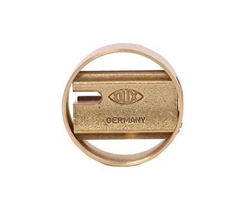 DUX DX6241 Pencil Sharpener - Brass Sharpener in a Brass Ring - Made...