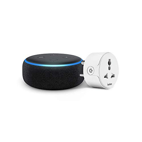 Echo Dot (Black) Combo with Helea 10A smart plug