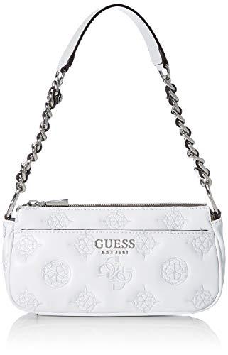 Guess Damen CHIC Shoulder Bag Klassisch, Bianco, Einheitsgröße