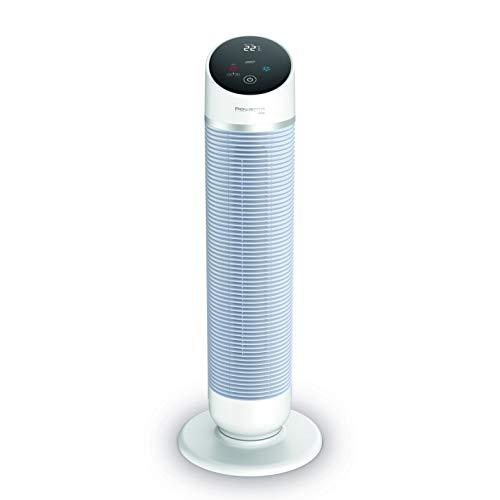 Rowenta 3 in 1 Turmventilator Silent Comfort HQ8120 | Heizlüfter, Ventilator und Luftfilter | Eco-Heizmodus | Smart-Modus | Fernbedienung | Timer | Auto-Off | Weiß