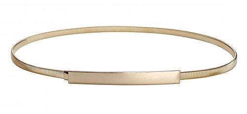 Women Skinny Belt Chain Elastic Punk Chain Wedding Belt Gold Waistband Gold Large,Gold,Large(30.1'- 34.1')