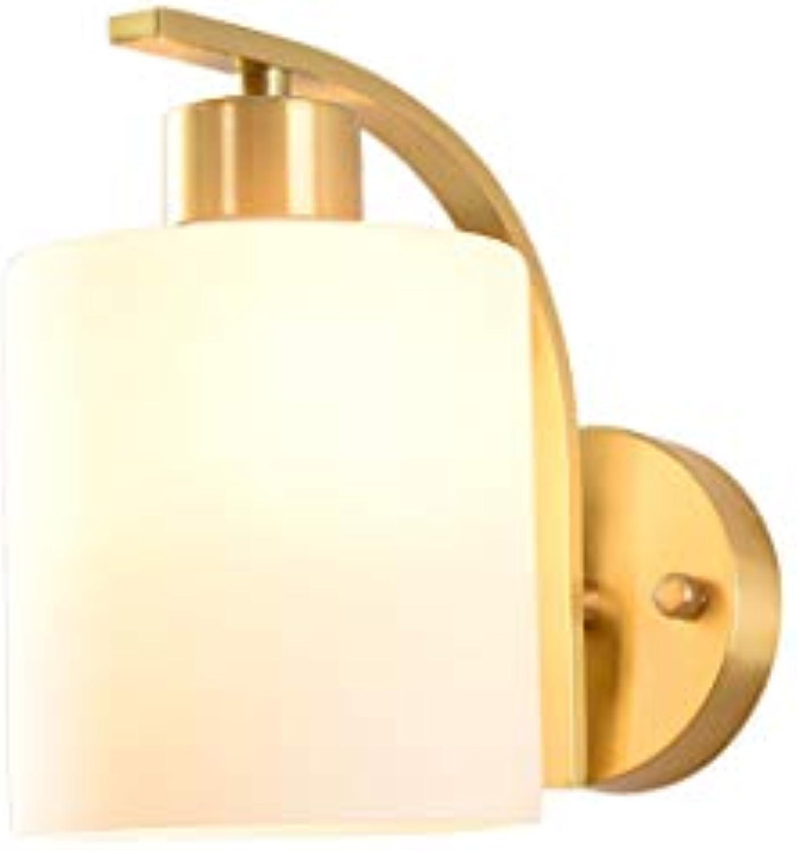 Litaotao Einfache Kupfer Wandleuchte Wohnzimmer Schlafzimmer Nachttischlampe Dekorative Moderne Wandleuchte Badezimmerspiegel Scheinwerfer Für Balkon Flur Gang, (14 cm  20 cm)