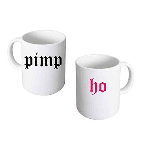 Pimp & Ho Gothic Style 2 Becher Set für Sie und Ihn