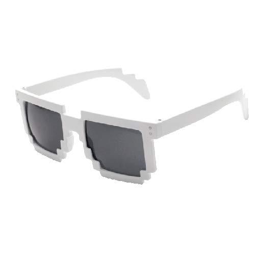 Sunglass Fashion Gafas de Sol con protección UV UV400 Estilo Mosaico (Color : Blanco)