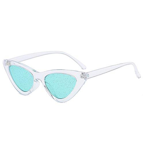 Gafas De Sol,Gafas De Sol De Ojo De Gato Para Mujer De Moda, Lentes De Cristal Brillantes Coloridos, Gafas De Sol De Estilo Callejero De Moda Para Hombres, Película Verde Con Marco Transparente