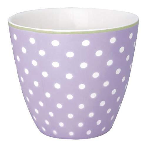 GreenGate - Becher - Tasse - Latte Cup - Spot - Porzellan - Lavendar/lila - 300 ml