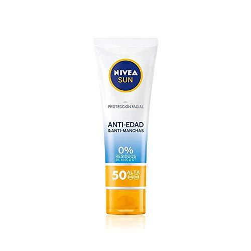 Nivea Sun - Crema Solar Facial Antiedad Antimanchas FP50, Protección UV Alta - 50 ml