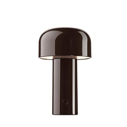 Lámpara de mesa recargable de la colección Bellhop, 2,5W, 12,5 x 12,5 x 21 centímetros, color marrón (referencia: F1060026)