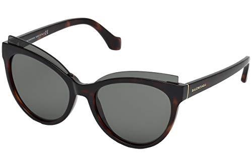 Balenciaga BA0094 52N 57 Gafas de sol, Marrón (Avana Scura/Verde), Unisex Adulto