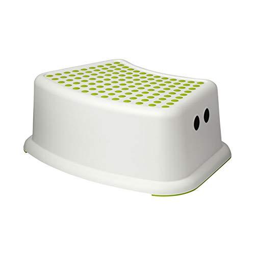 CDKJ Kinder Tritthocker Tritthocker rutschig, gut für Töpfchen Toilette Spielzeug weiß grün.