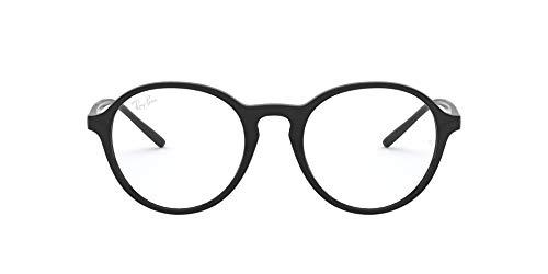 Ray-Ban RX7173 Gafas de Lectura, Black, 49 Unisex Adulto