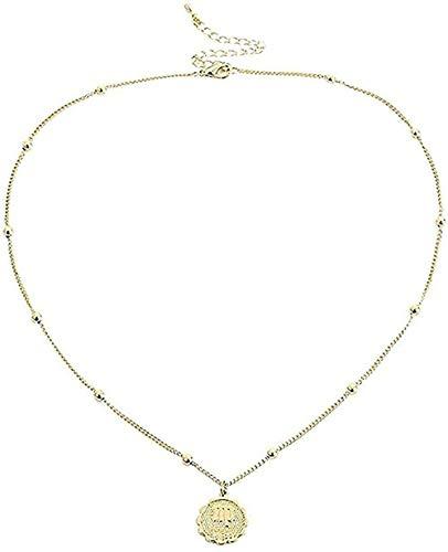 banbeitaotao Collar con Colgante de declaración del Zodiaco, Collar de Cadena de constelación de horóscopo Virgo Leo para Mujer, Regalo de cumpleaños para niñas