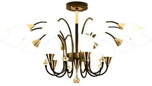 TAIDENG Luz de Techo Lámpara de la Sala de Estar Moderna Chandelier Americano Sala de Estar Dormitorio Lámpara Lámpara de cerámica Azul