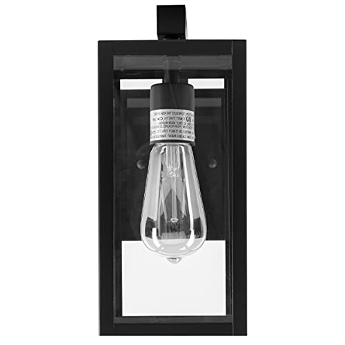Norwell Lighting 1185-MB-CL Capture - 11 Inch One Light Outdoor Wall Mount, Matte Black Finish with Clear Glass