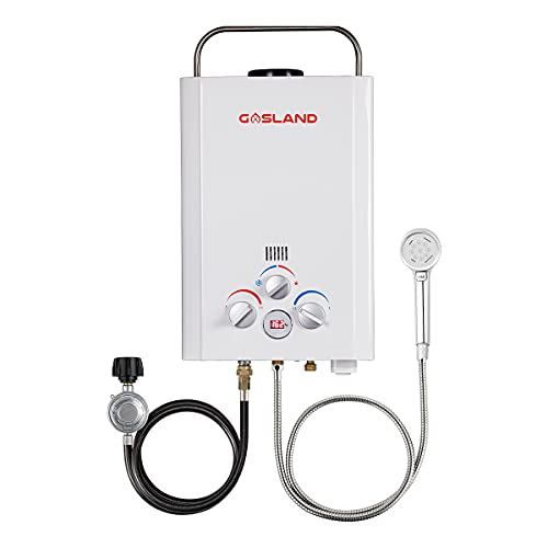 Tankless Water Heater, GASLAND Outdoors BE158 1.58GPM 6L Outdoor Portable Gas Water Heater, Propane...