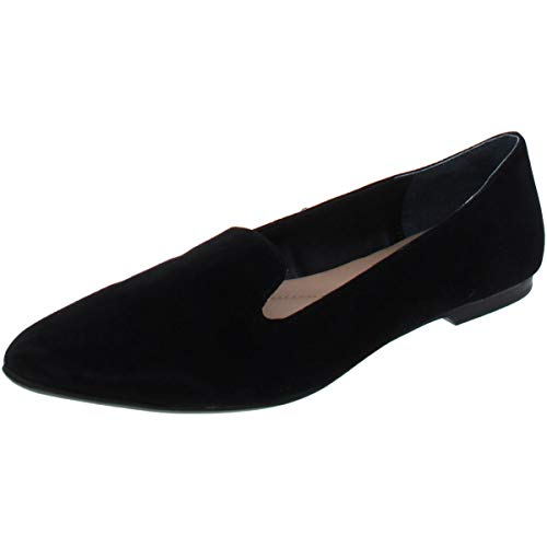 Alfani Womens Poeel Suede Pointed Toe Loafers, Black, Size 9.5