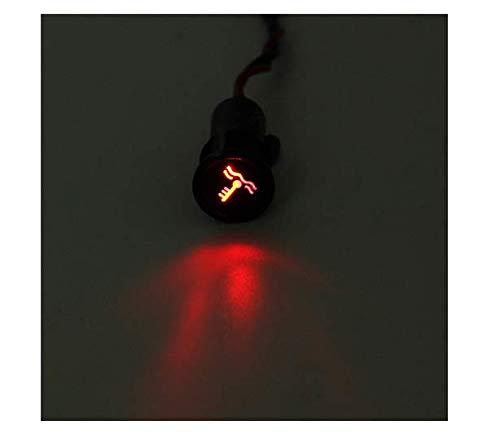 EsportsMJJ 12 8mm LED dashpaneel waarschuwing lichtindicator lamp met lijn en symbool voor autoboot #12