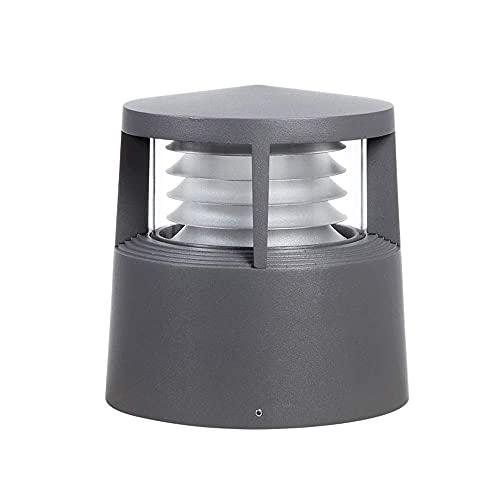 DAQ Lámpara de Pared de luz de Pared de Faro de Columna al Aire Libre con Base E27 Simple, lámpara de Pared de luz de jardín a Prueba de Agua, lámpara de césped para Paisaje, Luces de Pared
