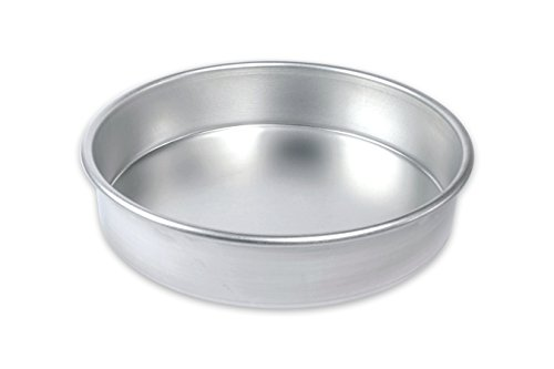 USA Pan Bare Aluminum Bakeware 1070LC-BB 9″ Round Cake Baking Pan Warp-Resistant, Rust-Proof Bakeware