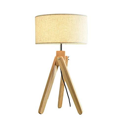 Allamp Norte de Europa Iluminación decorativa, Reading lámpara- de noche y lámparas de mesa Lámpara de madera maciza Dormitorio Sala de Estudio cabecera de la habitación Decoración nórdica sólido simp