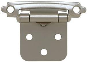 Liberty Hardware H0103AV-SN-O2 Pacote com 2 Dobradiças de sobreposição de autofechamento de níquel acetinado - 5 x 1,9 cm.
