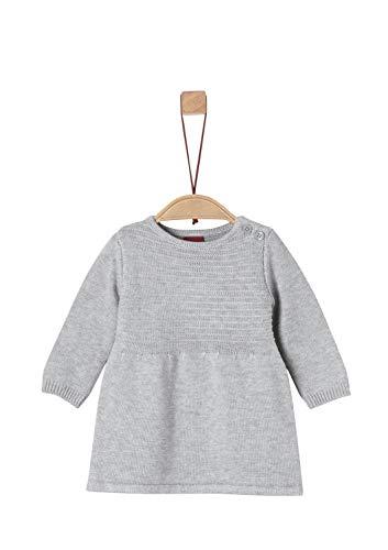 s.Oliver Baby-Mädchen 65.908.82.2989 Kleid, Grau (Grey Melange 9400), (Herstellergröße: 62)