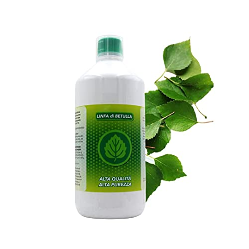 MUV Linfa di Betulla Pura 1Litro, Drenante Forte Dimagrante - Prodotto Naturale Anticellulite e Ritenzione Idrica
