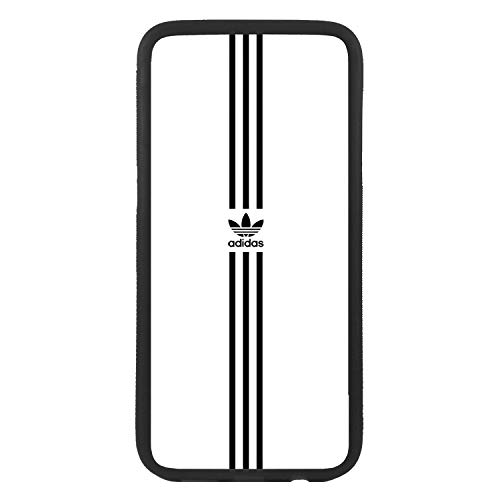 Funda Carcasa de móvil para Samsung Galaxy j7 (2016) Logotipo Adidas Logo Antiguo Rayas TPU Borde Negro