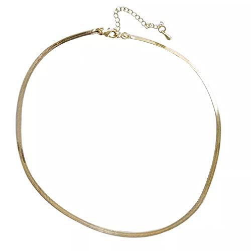 Collar Colgante Collar de Gargantilla de joyería Que Vende Metal Chapado en Oro Collar de Cadena de Serpiente Corta para Mujer niña celebración Fiesta Regalo Collar Amistad Aniversario Regalo