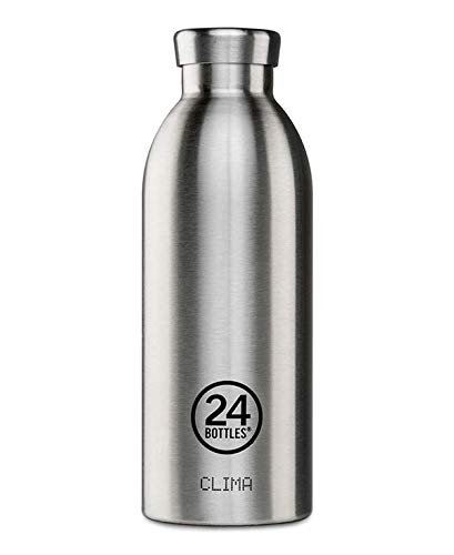 Isolierte Trinkflasche \'Clima Bottle\' aus Edelstahl 850 ML, Farbe:steel