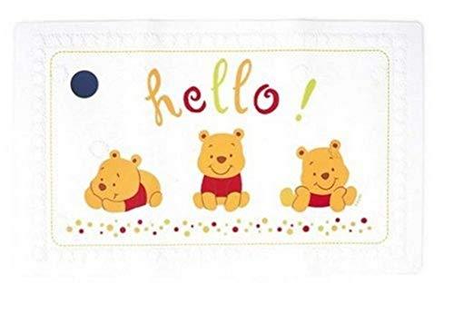 Tigex Disney Winnie the Pooh-Alfombra de baño antideslizante Alfombra de baño para bebé