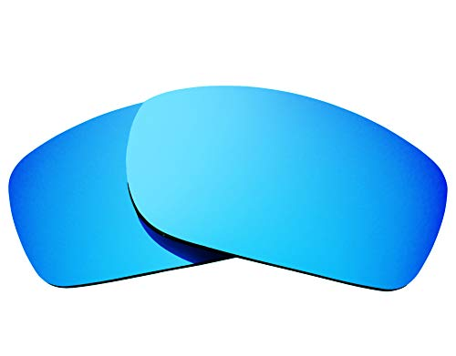 SEEK Ersatzgläser Kompatibel mit OAKLEY Fives Squared Polarisiert Blau Spiegel
