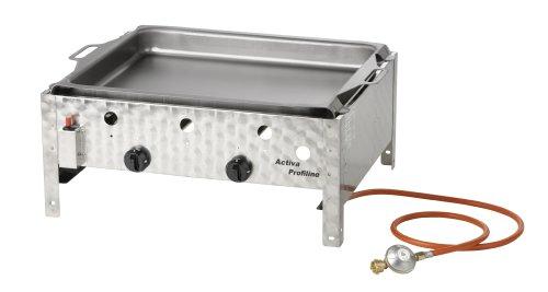 Activa 2-flammiger Gastrobräter mit Stahlpfanne, Silber