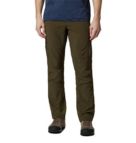 Columbia Silver Ridge II Pantalon de Randonnée Cargo, Olive Green, W30/L34 Homme