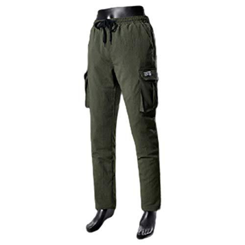 FR&RF Pantalones térmicos con calefacción por USB, pantalones térmicos, de capa básica, pantalones de esquí, ropa interior, unisex, talla grande, verde, M