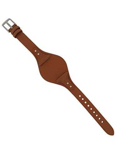 Fossil Uhrband Wechselarmband LB-ES3615 Original Ersatzband ES 3615 Uhrenarmband Leder 18 mm Braun
