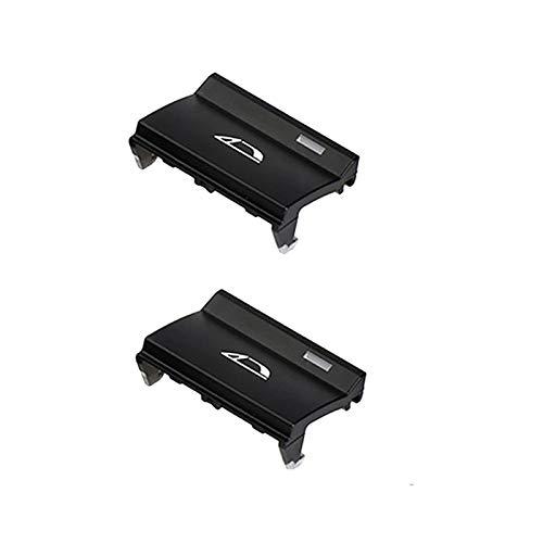 ZHANGJINYAN 2 PCS FIT FOR-BMW Z4 E89 2009-2016 Centro Interruptor de la Consola Centro Botón de Interruptor Convertible Plazo del botón P, No.2 & No.3 (Color : Black)