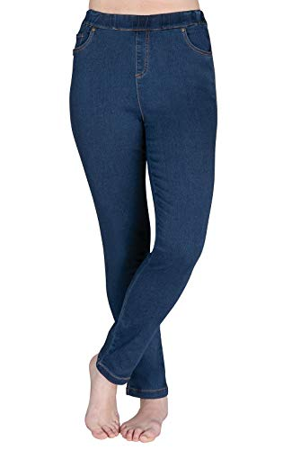 PajamaJeans Womens High Waisted Jeans - Pull On Jeans, Bluestone, S
