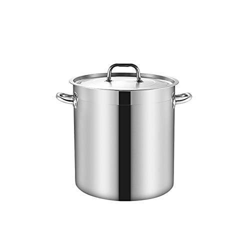 Maceta de acero inoxidable segura de la inducción con tapa, acero inoxidable olla de acero alejar la olla de cocción de la olla de preparación (20L / 35L / 50L / 70L) (Size : 30.5 * 30cm)