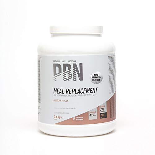 PBN Premium Body Nutrition Sustitutivo de comidas, bote de 2.4 kg, sabor chocolate, sabor optimizado