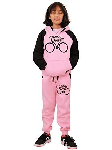 A2Z 4 Kids® - Chándal para niños y niñas con pedal de diseño y sudadera con capucha Joggers 5 6 7 8 9 10 11 12 13 años Rosa y Negro Bebé 5-6 Años