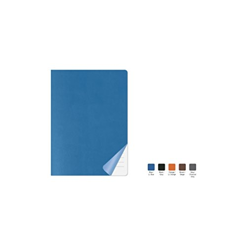 DUET Ruled, Flexicover Executive Notebook Journal, Premium Paper, 192 Lined Pages, Two-Tone Flexible Cover, Fountain Pen Friendly, Blue & Light Blue Cover, Size 5.75' x 8.25'