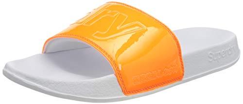 Superdry Damen Pool Slide Pantoffeln, Orange (Fluro Orange 12M), 40/41 EU