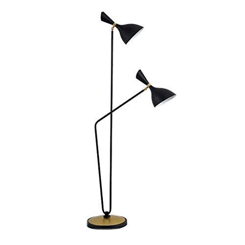 LY88 Licht? L Nordic Living Room Vloerlamp Smeedijzer Persoonlijkheid Flexibele Zwanenhals Staande Lamp kleur: ZWART
