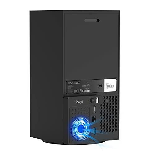 Ventilador de refrigeración vertical para Xbox Series X, ventilador de refrigeración USB de pie con puerto de concentrador USB para consola Xbox Series X